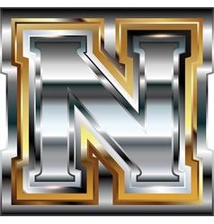 Fancy font Letter N vector image