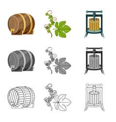 farm and vineyard logo vector image