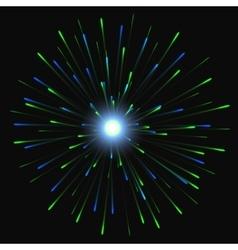 Festive Golden Firework Salute Burst on vector