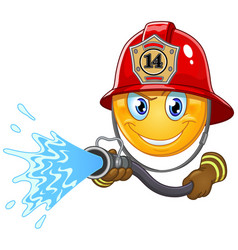 fireman emoticon vector image