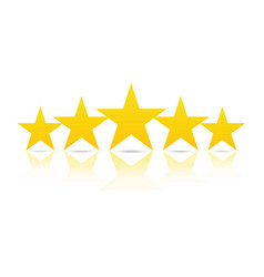 five stars rating and ranking concept vector image