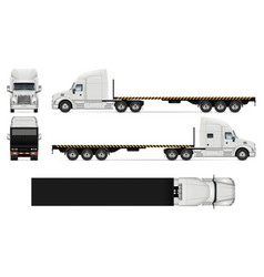Flatbed truck realistic vector