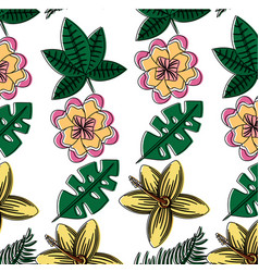 flowers natural decoration exotic seamless pattern vector image