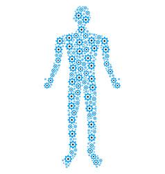 gear human figure vector image
