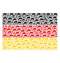 Germany flag pattern of dolphin icons vector