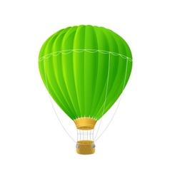 Green air ballon isolated on white vector