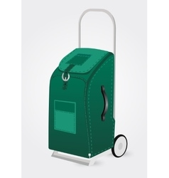 green trolley suitcase vector image