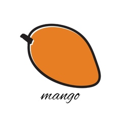 Hand drawn mango in doodle style vector image