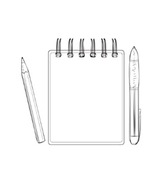 Hand drawn notebook for business people vector