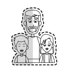 happy father and children family icon image vector image