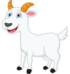 Happy goat cartoon vector