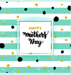 Happy mothers day lettering concept vector