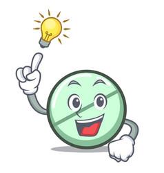 Have an idea drug tablet mascot cartoon vector