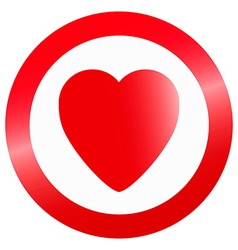 Heart in circle vector