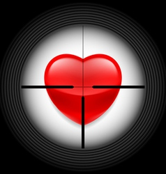 Heart in rifle sight vector image