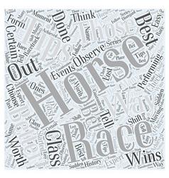 Horse racing tip Word Cloud Concept vector