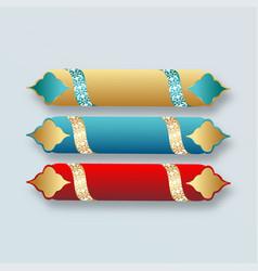 Islamic banner design set stock vector