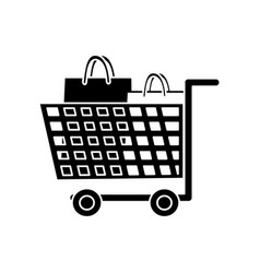 isolated cart design vector image
