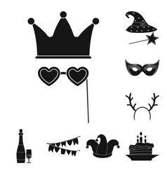 Isolated object of party and birthday symbol set vector