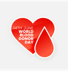 june blood donor day banner design vector image