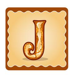 letter j candies vector image
