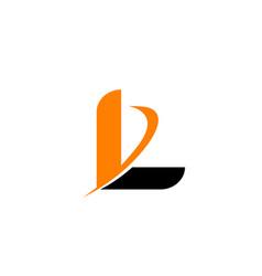 letter l logo icon vector image