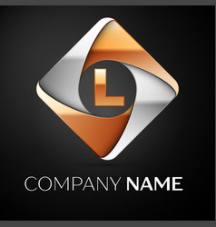Letter l logo symbol in the colorful rhombus on vector