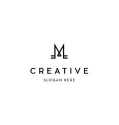 Letter m creative business logo design vector