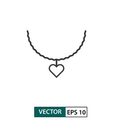 Love necklace icon outline style isolated on vector