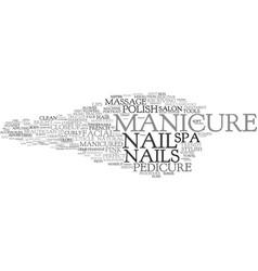 Manicure word cloud concept vector