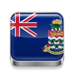 Metal icon of Cayman Islands vector
