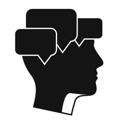 Mind mental chats icon simple style vector