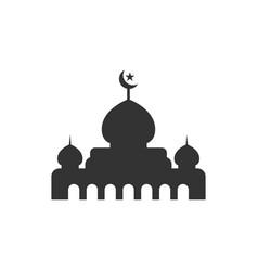 Mosque silhouette graphic design template vector