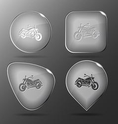 Motorcycle Glass buttons vector
