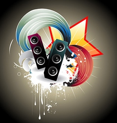 Music speaker design vector image