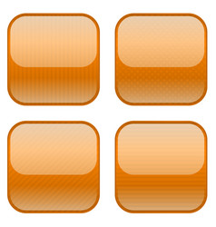 Orange square buttons with stripes vector