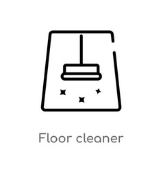 outline floor cleaner icon isolated black simple vector image
