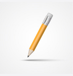 Pencil with eraser isolated vector