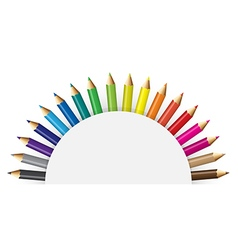 Pencils colour with white backround vector