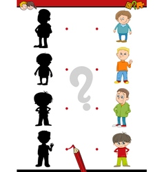 Preschool shadow activity for kids vector