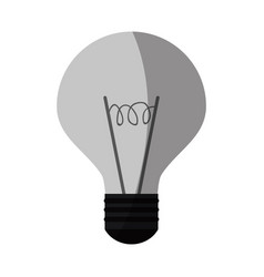 regular lightbulb icon image vector image