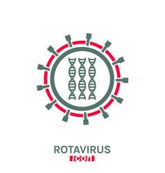 Rotavirus pictogram vector