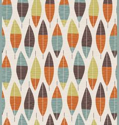 seamless mid century modern feather pattern vector image
