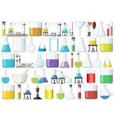 set lab tools vector image
