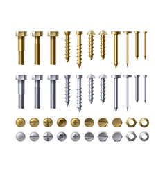 set of fastener vector image