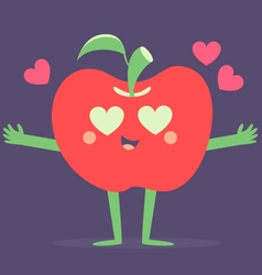 Set of Fruits in Love vector image