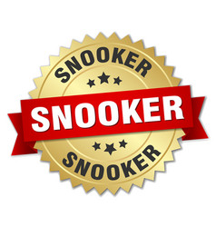 Snooker round isolated gold badge vector