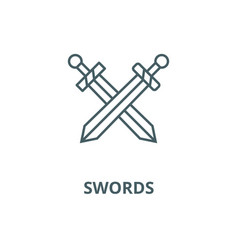 swords line icon linear concept outline vector image