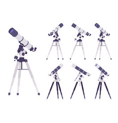 telescope optical instrument vector image