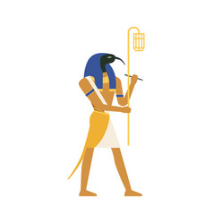 Thoth god wisdom egyptian ancient culture vector